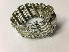 "Vintage Pegasus Spike Bracelet 1.5""  Wide Silver Tone CORO 6 3/4"""