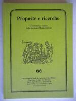 proposte e ricerche economia società nella storia dell'italia centrale 66 nuovo