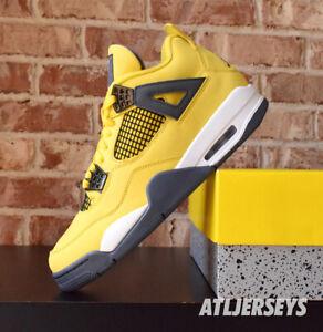 2021 Nike Air Jordan 4 Retro Lightning Yellow CT8527-700