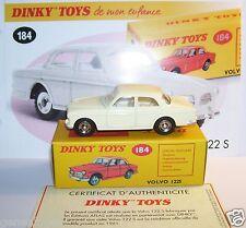 DINKY TOYS ATLAS VOLVO 122 S WHITE CREAM 1/43 REF 184 IN BOX