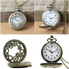 Retro Steampunk Pocket Watch Hollow Gear Antique Bronze Pendant Pocket Watch