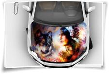 Dreamcatcher Indianer Wolf Motorhaube Auto-Aufkleber Folie Airbrush Tuning Wrapp
