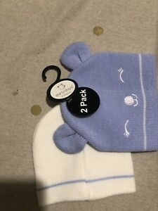 Early Days 0-6 Months 2 Pack Wooly Hats
