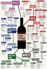 Types of Wine Chart Poster Print, 13x19