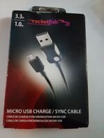 Rocketfish 1m Micro Usb Charge/Sync Cable - Black