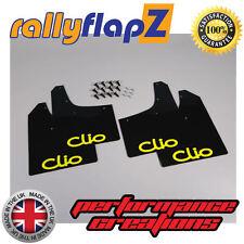 rallyflapz RENAULT CLIO MK2 (98-05) PARAFANGHI NERO LOGO GIALLO 3mm PVC