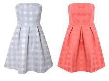 Party Checked Regular Size Sleeveless Dresses for Women