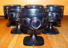 6 Vintage Noritake Spotlight Cobalt Blue Champagne Tall Sherbet Glasses Glass