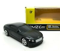 Bentley Continental GT Matt Black Scale 1/64 (Approx 2.5 inches) RMZ City