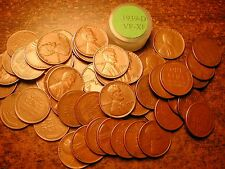 1939-D LINCOLN WHEAT CENT PENNY ROLL, HIGH GRADE!! VF-XF!!!!!