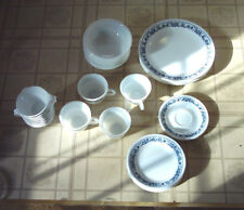 Lot 6 Corelle Old Town Blue Onion Hook Handle Cup 2 Saucers Excellent Condition