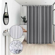 Bathroom Shower Curtain Waterproof Fabric Mildew Resistant Curtain 12 Free Hooks