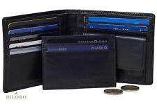 DiLoro Italy Echtes Voll Nappa Leder Herren Portemonnaie Geldbörse RFID Schutz