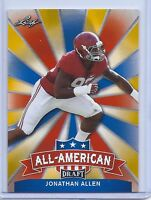 JONATHAN ALLEN 2017 LEAF DRAFT ALL-AMERICAN GOLD PARALLEL ROOKIE CARD! ALABAMA!
