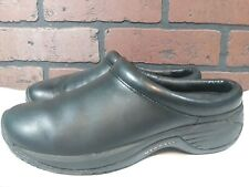 Merrell Encore Nova Mocs Womens Size 6 M Black Leather Low-Back Slip-On Loafers