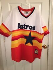 Majestic Houston Astros Cooperstown Cool Base Retro Rainbow Jersey