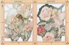 Chromo Le Suh Découpis Fée des Fleurs 1899 Embossed Illustrations Flower Fairy