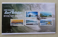2017 NEW ZEALAND SURF BREAKS 5 STAMPS FDC FIRST DAY COVER