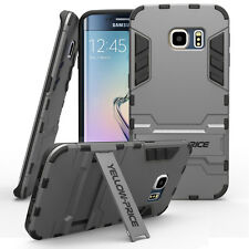 For Samsung Galaxy S6 Edge Hybrid Armor Protective Impact Hard Case Stand Cover