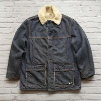 Vintage 80s Carhartt Sherpa Denim Jacket Size 44 Wip