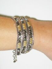 Stella & Dot Luna Triple Wrap Bracelet / Necklace - New! Popular! RV $89