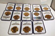 MS 62 RARE LOT OF 13 GOLD $20.00 US LIBERTY COINS 1922-1928 NGC