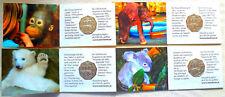 4 x 5 EURO SILBER 800 SCHÖNBRUNNER TIERGARTEN HANDGEHOBEN in BLISTER; 2002 ! !