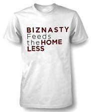 Sauce Hockey Men's BIZNASTY FEEDS THE HOMELESS S/S T-Shirt White F11BZ5555 (S)