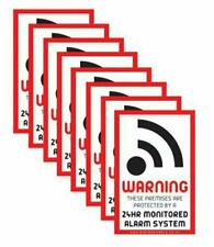 8 x Intruder Alarm Warning Security Stickers Sign Suitable for Outdoor Use
