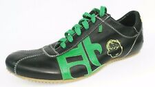 History Charlie Brown Black Leather Womens Sneakers Shoes Size EUR 38 US8