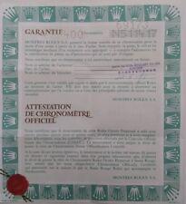 ROLEX Certificate Garantie Warranty Guarantee DATEJUST 564.00.400.11.92 Garanzia
