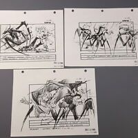 STARSHIP TROOPERS - Production Used Storyboard Set of 3, Carmen vs Warriors