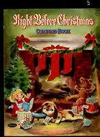 THE NIGHT BEFORE CHRISTMAS VINTAGE 1962 WHITMAN COLORING BOOK