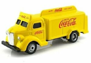 Motor city Classics 1947 COCA COLA DELIVERY Bottle Truck Yellow 1:87 diecast