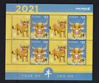 Philippines 2020 China Zodiac (2021) Year of OX set 2 value in sheetlet/8 MNH