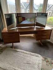 Vintage Retro Mid Century Teak Dressing Table Desk by Austin Suite Home Office
