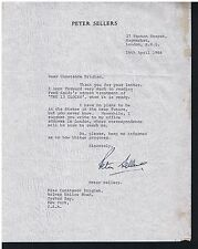 Peter Sellers Pink Panther Amazing Rare Signed 2 TLS Autographed correspondence