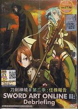 Sword Art Online 2 : Debriefing Japanese Anime DVD Box Set + English Subtitles