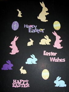 Colourful EASTER DIE-CUTS x 17 pieces - GREAT FOR SCRAPBOOKING/CARDMAKING