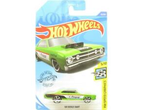 Hot Wheels 68 Dodge Dart Speed Graphics Green Long Card 1 64 Scale Sealed New