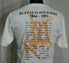 BUFFALO SOLDIERS T-Shirt XL Vintage 1990's US ARMY Military HONOR