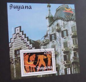 Guyana 1989 Olympics Barcelona 92 Javelin MS miniature sheet fine used