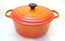 Le Creuset Made in France Cast Iron Enameled Dutch Oven - 7 1/4 Qt - Flame