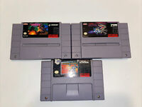 Lot of 3 Super Nintendo SNES games Super R type MechWarrior Gradius