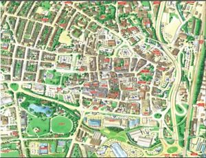 Cityscapes Street Map Of Chesterfield 400 Piece Jigsaw Puzzle 47cm x 32cm