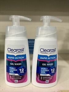 Clearasil Ultra Rapid Action Gel Wash Unblock Pores Fight Spots Clear Skin 300ml