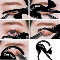 Cat Eyes Liner Eye Line Eyeliner Stencil Model Template Makeup Eyebrow Tool GN