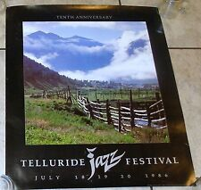 Telluride Tenth Anniversary Jazz Festival 1986 Promotional Poster