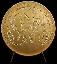 Médaille Sainte Cora Coralie Corinne Dioscore père de sainte Barbe 1974 medal