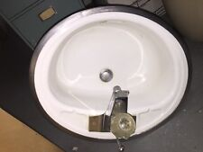 Delta White Enamel Sink Google Vintage Rusty Underneath TT053016